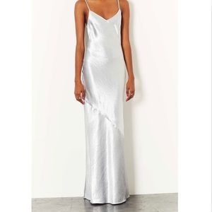 H&M Women Maxi Silver Strappy Dress